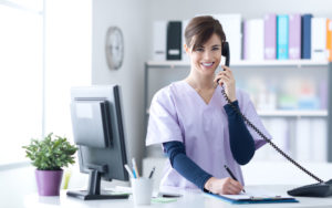 Homepage - Nurse on the Phone With Healthcare